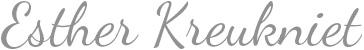 Esther Kreukniet - Schrijfster en freelancejournaliste
